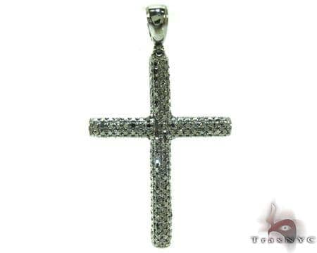 Mens Black Diamond Cross Crucifix 21175 Diamond