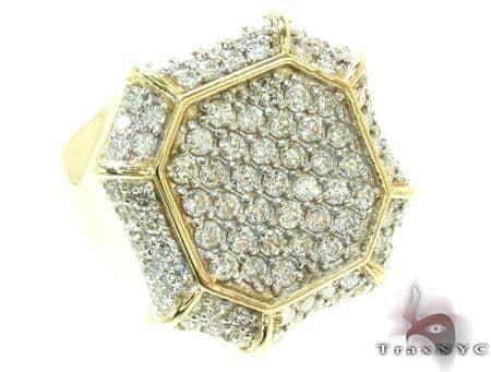 Mens Yellow Gold Diamond Ring 21188 Stone
