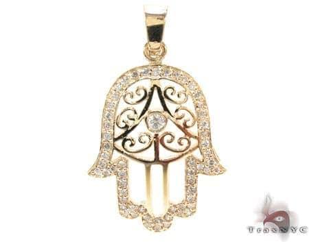 Hamsa Diamond Pendant 21194 Metal