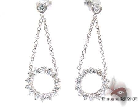 Ladies Prong Bezel Diamond Earrings 21195 Stone