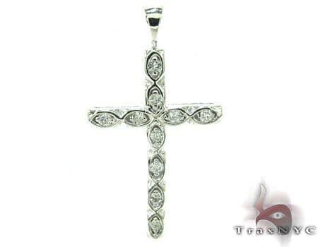 Ladies Prong Diamond Cross Crucifix 21202 Style