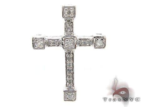 Ladies Prong Diamond Cross Crucifix 21203 Style