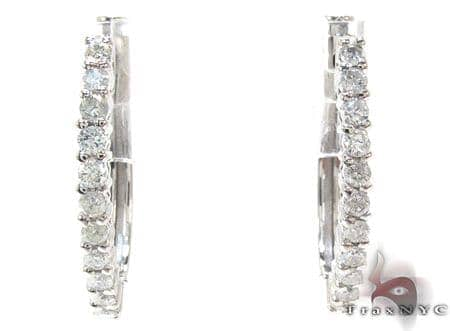 Ladies Prong Diamond Earrings 21207 Stone