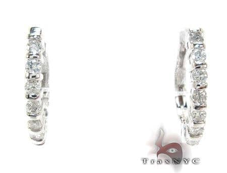 Ladies Prong Diamond Earrings 21208 Stone