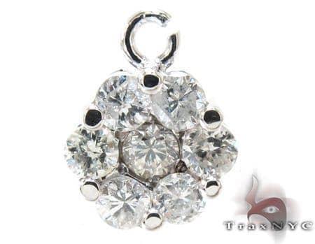 Ladies Flower Diamond Pendant 21227 Stone