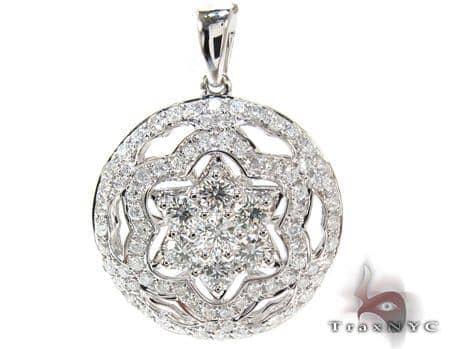 Ladies Prong Diamond Pendant 21280 Stone