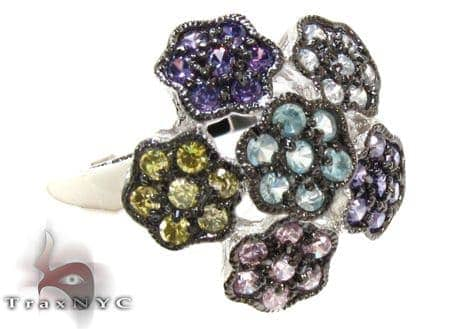 CZ Colorful Flower Ring 21313 Anniversary/Fashion