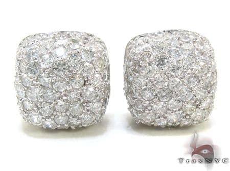 Diamond Pillow Earrings 21332 Stone