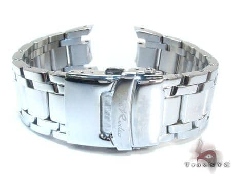Joe Rodeo White Stainless Steel Band 24mm *Only fits Master Watch* Watch Accessories