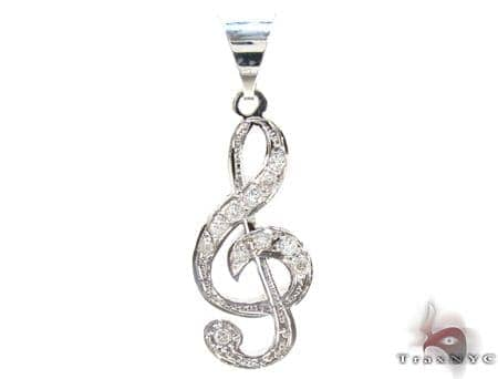 Unisex Diamond Pendant 21417 Metal