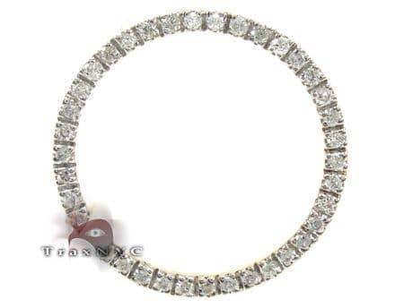 Ladies Yellow Gold Diamond Circle Pendant 21480 Stone