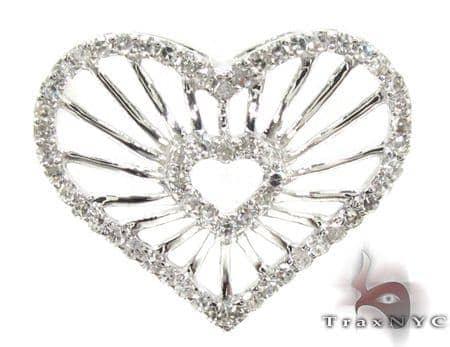 Ladies Diamond Heart Pendant 21485 Stone