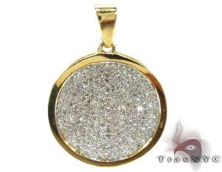 Ladies White Gold Pave Diamond Pendant 21493 Stone