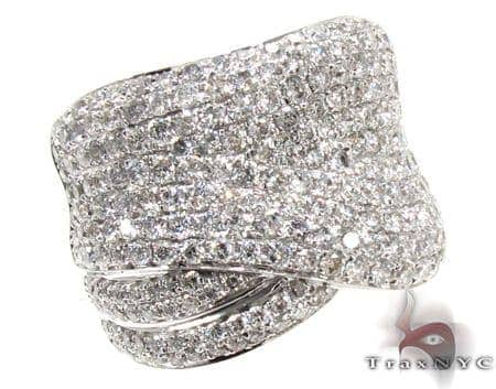 Unisex White Gold Pave Diamond Ring 21505 Stone