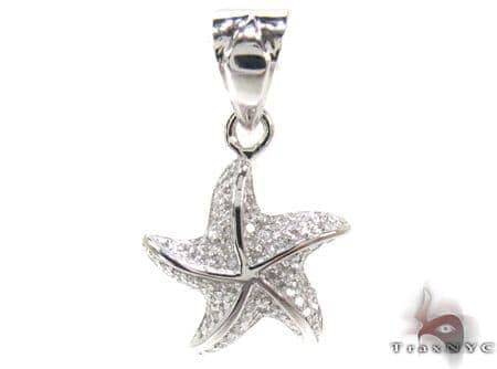 Ladies Prong Diamond Pendant 21526 Stone