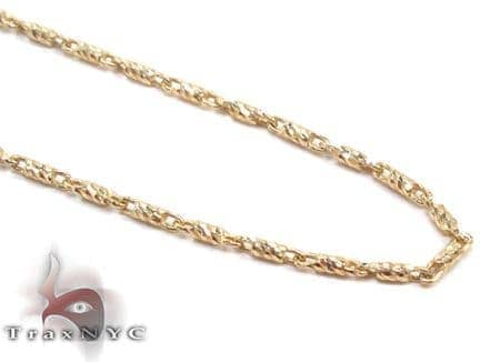 Yellow 14K Gold Chain 16 Inches 1mm 2.0 Grams Gold