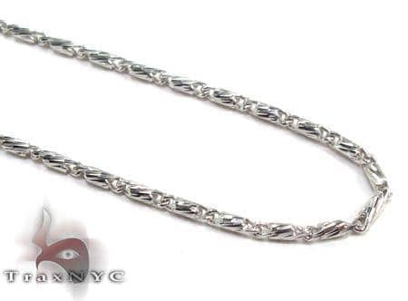 White 14K Gold Chain 16 Inches 1mm 2.0 Grams Gold