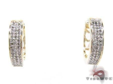 Ladies 3 Row Diamond Earrings 21592 Stone
