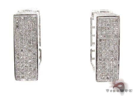 Ladies Micro Pave Diamond Earrings 21626 Stone