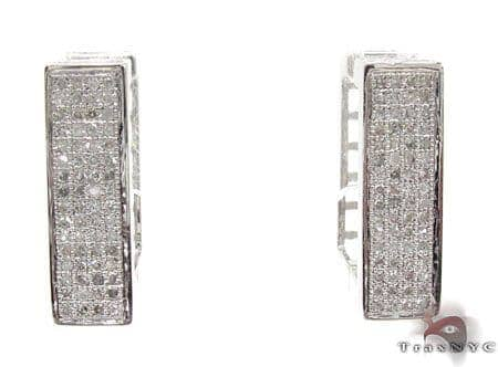 Ladies Micro Pave Diamond Earrings 21627 Stone