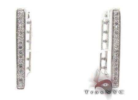 Ladies Micro Pave Diamond Earrings 21629 Stone
