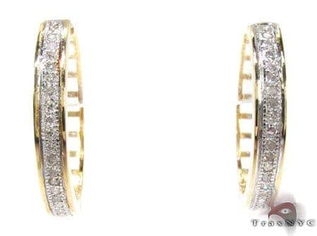 Ladies Micro Pave Diamond Earrings 21641 Stone