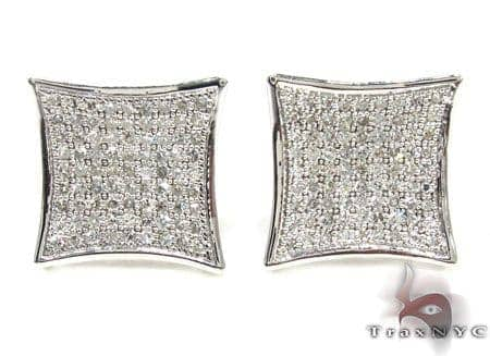 Mens Diamond Earrings 21649 Stone