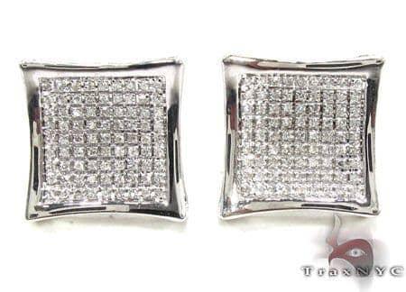 Mens Diamond Earrings 21656 Stone