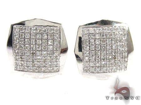 Mens Diamond Earrings 21667 Stone