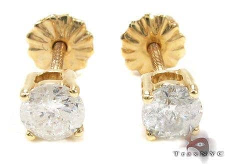 Prong Diamond  Earrings 21680 Stone