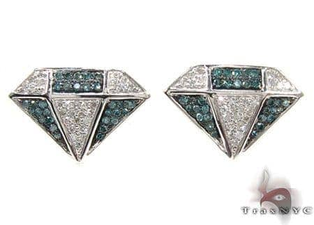 Ladies 2 Color Diamond Earrings 21687 Stone