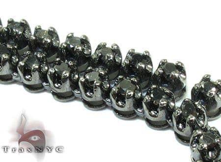 2 Row Diamond Chain 30 Inches 8mm 99.7 Grams Diamond
