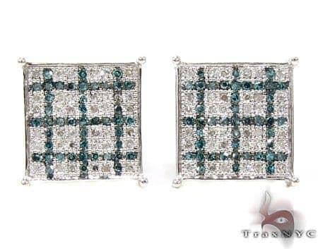 2 Color Diamond Earrings 21729 Stone