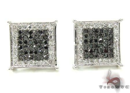 2 Color Diamond Earrings 21740 Stone