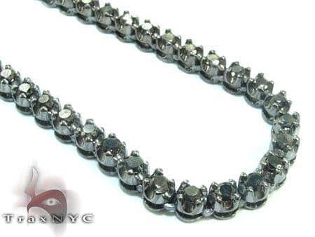 Black Diamond Polar Iced Chain 32 Inches 4mm 49.3 Grams 21782 Diamond