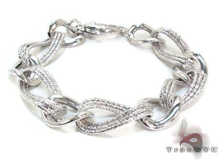 Ladies Silver Bracelet 21835 Silver & Stainless Steel