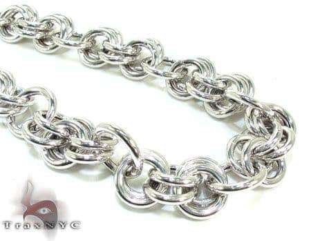 Ladies Silver Chain 18 Inches 14mm 47 Grams Silver