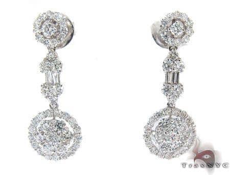 Ladies Prong Diamond Earrings 22307 Stone