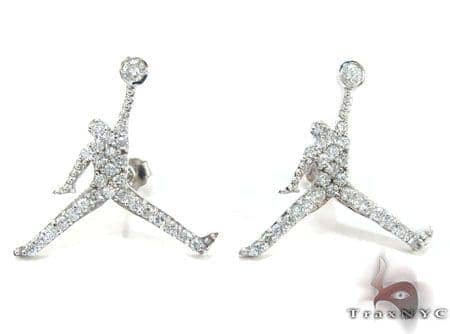 Jordan Jumpman custom Earrings Stone