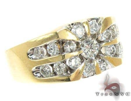 Yellow Gold Channel Diamond Ring Stone