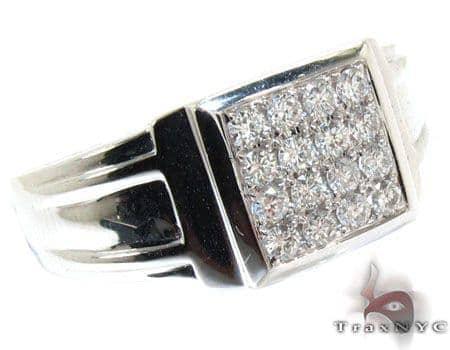 White Gold Prong Diamond Ring Stone