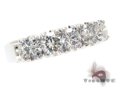 White Gold Round Cut Prong Diamond Anniversary Ring 23462 Wedding