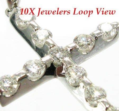 Multi Solitaire Cross Crucifix Diamond
