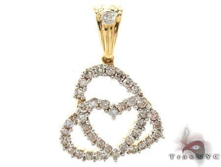 Layered Hearts Diamond Pendant Style