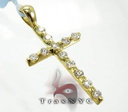 YG Tension Cross Crucifix 2 Diamond