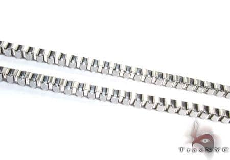 White Stainless Steel Chain 24 Inches 4mm 21.4 Grams Stainless Steel