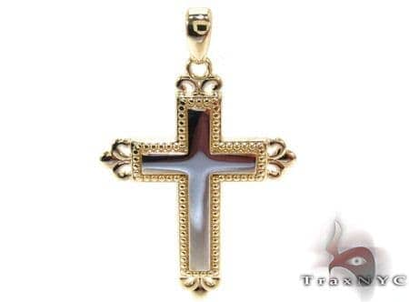 Yellow 14K Gold Cross Crucifix Gold