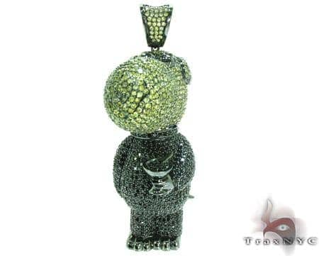 Black Rhodium Silver Family Guy Brian Pendant Metal