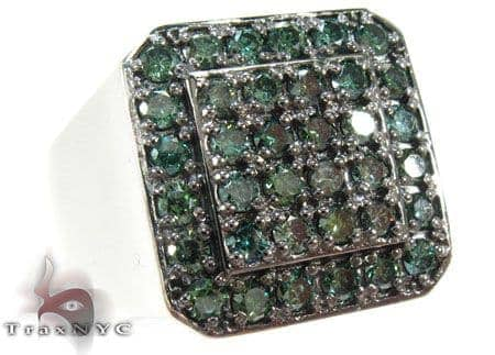 Trax NYC Heavy Green Color Diamond Ring Stone