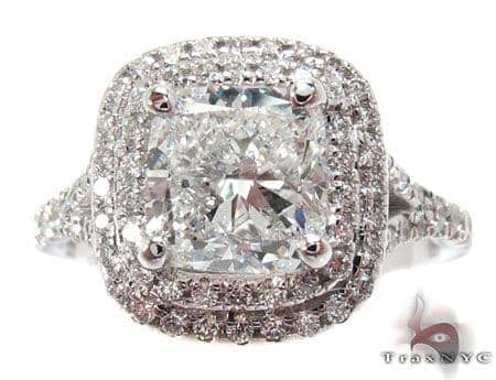 White Gold Princess Round Cut Prong Diamond Wedding Ring Engagement